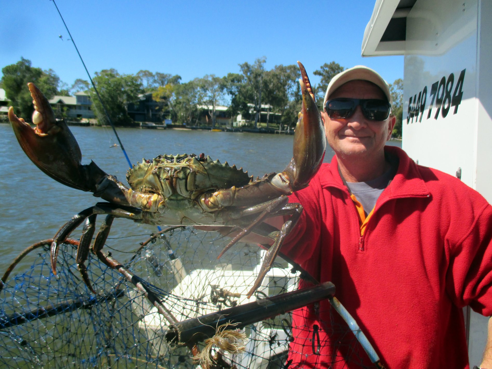 Fantastic muddy caught aboard the Noosa Fishing and Crab adventures