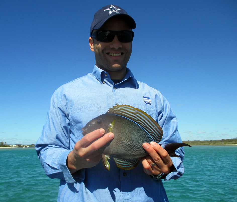 Nate from Adelaide pulled in a Surgeon fish just off the river mouth.